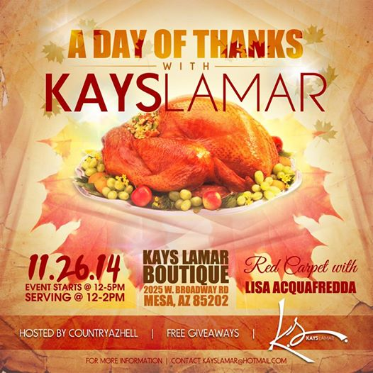 Kay Lamar's Day of Thanks