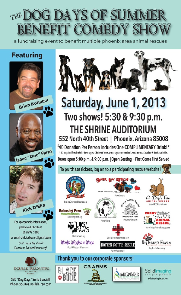 Dog Days of Summer Benefit Comed